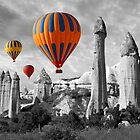Hot Air Balloons Over Capadoccia Turkey - 9 by Paul Williams