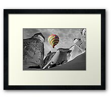Hot Air Balloons Over Capadoccia Turkey - 10 Framed Print
