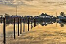 Empty marina reflections  by Gert Lavsen