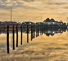 Empty marina reflections  by Gert Lavsen