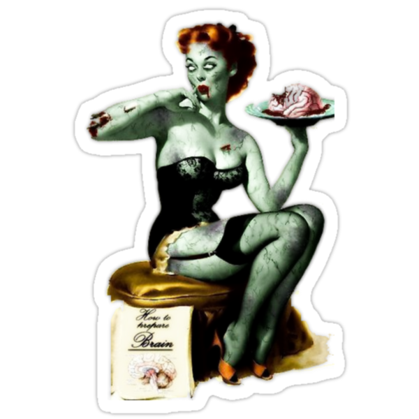 Pin Up Zombie by mymarbear