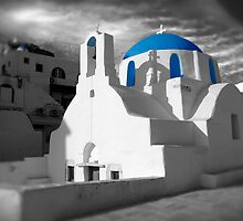 'Blue Domes' - Greek Orthodox Churches of the Greek Cyclades Islands - 2 by Paul Williams