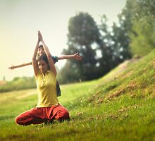 Yoga with kids in the park by Wari Om  Yoga Photography