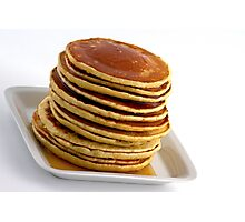Stack of pancakes with syrup Photographic Print