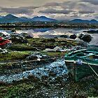 Boats at Connemara, Co Galway by John  Carey