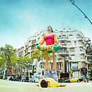 Acroyoga, yoga in Passeig de Grcia, Barcelona by Wari Om  Yoga Photography