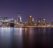 Manhattan At Night Panorama 1 by BlackRussian