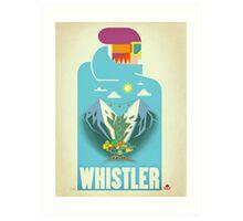 """""""Blue Bird"""" Whistler, BC Travel Poster Art Print"""