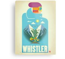 """Blue Bird"" Whistler, BC Travel Poster Metal Print"