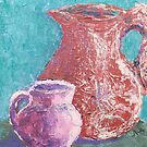 Big Pitcher, Little Pitcher (Mixed Media) by Niki Hilsabeck