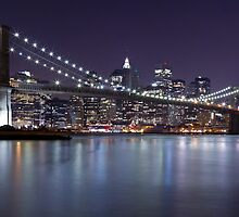 Brooklyn Bridge at Night Panorama 3 by BlackRussian