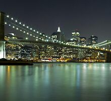 Brooklyn Bridge at Night Panorama 6 by BlackRussian