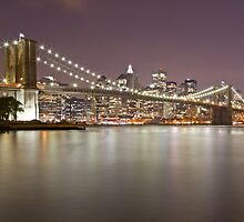 Brooklyn Bridge at Night 1 by BlackRussian