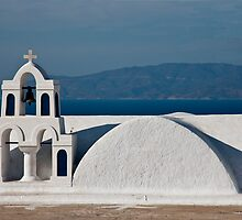 Bells, Arches, And Shapes Of Oia by phil decocco