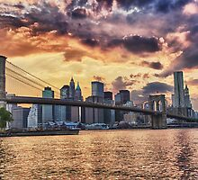 Brooklyn Bridge at Sunset by BlackRussian