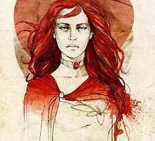Melisandre od Asshai by elia, illustration