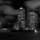 Melbourne at night by bluetaipan