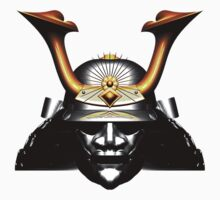 Black Kabuto (Samurai helmet) T-shirts and Stickers by Steve Crompton