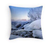 Powerful river Throw Pillow