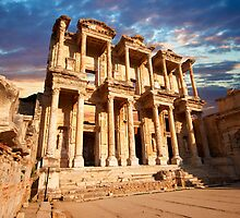 The Library of Celsus - Ephesus. Turkey by Paul Williams