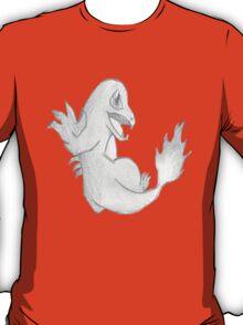 Charmander - B&W by Derek Wheatley T-Shirt