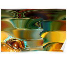 spirals & the water drop Poster