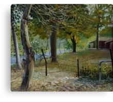 BACKYARD.. acrylic on canvas Canvas Print