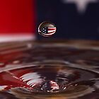 Patriotic Water Drop by Anthony L Sacco