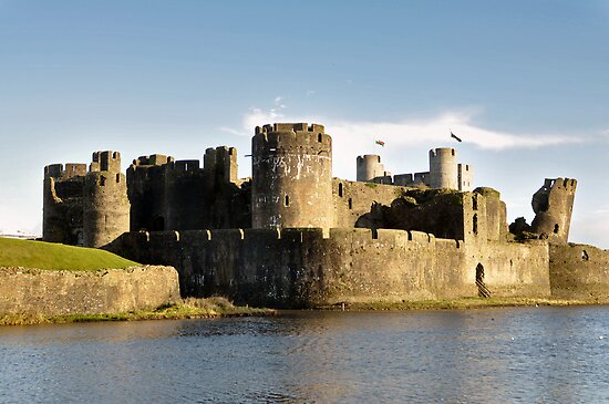 Caerphilly Castle - South Wales by Chris Monks