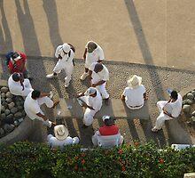The Beach Vendors are taking a Break - Los Vendedores de la Playa haciendo una Pausa by PtoVallartaMex