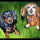 """95. """"Sophie and Ginger."""" by amyglasscockart"""