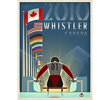 """""""Olympic Luge"""" Whistler, BC Travel Poster Photographic Print"""
