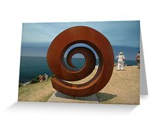 Spiral @ Sculptures By The Sea, 2011 Greeting Card