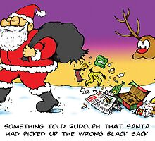 Santa picks up the wrong black sack by completemisfit