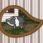 Basil the Pig Print by Valerie Hartley Bennett