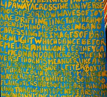 Across the Universe ~ Painted Lyrics by Christina Darcy