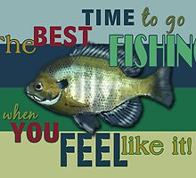 When Is The Best Time To Go Fishing? by Cherie Balowski