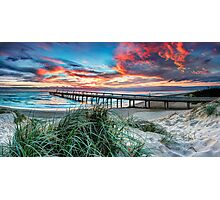 Fire in the Sky - Panorama Photographic Print
