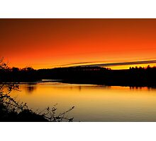 Fading Light over the River Tees, December 18 2011. ( 3 ft's) Photographic Print