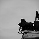 War monument in black and white by alanbuech