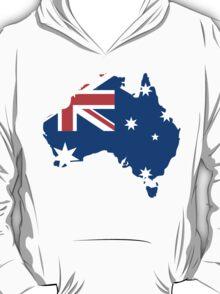 Australia Flag and Map T-Shirt
