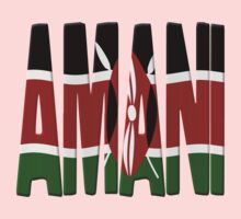Amani - Kenya flag by stuwdamdorp