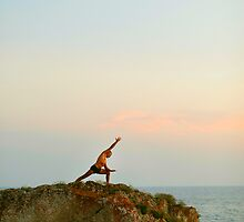 Meditation, Yoga 7 by the beach, Mallorca by Wari Om  Yoga Photography