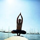 Yoga 7 by the beach, Hur in Mallorca by Wari Om  Yoga Photography