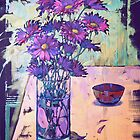 purple asters by oustinov