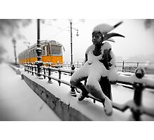 Yellow Tram - Budapest Photographic Print