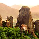 Meteora Mountain Monateries, Greece 2 by Paul Williams