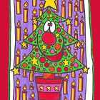 Christmas Tree With Candles by Sammy Nuttall