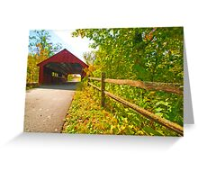 Stony Creek Covered Bridge Greeting Card