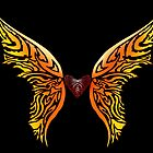 Winged Tribal Heart by VinnieIannone